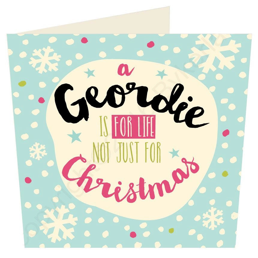 5 Pack Large Geordie Christmas Cards - Your Choice!