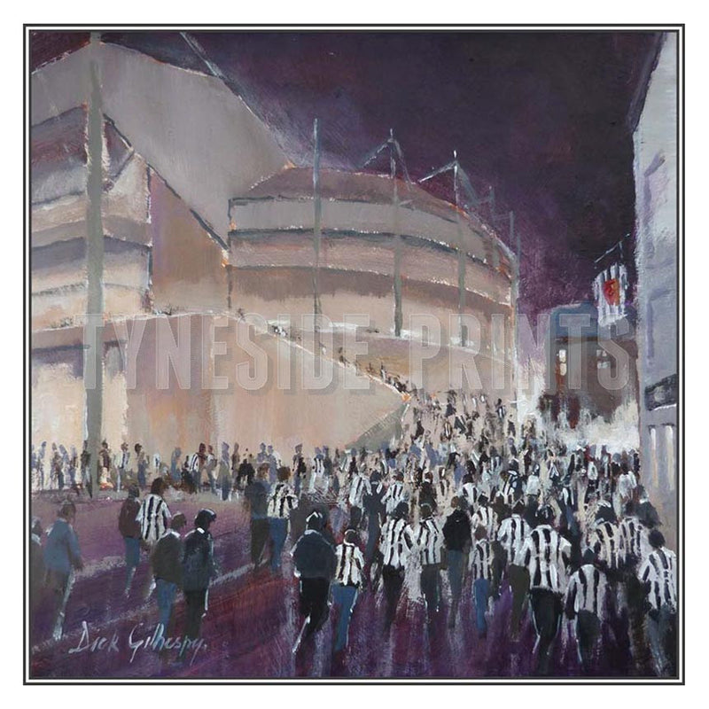 Walk Of Anticipation | Newcastle United Card | Tyneside Prints