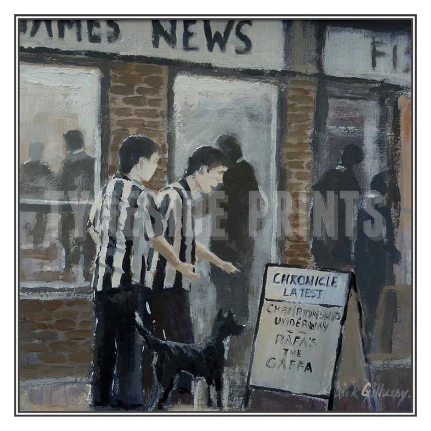 Read All About It | Newcastle United Card | Tyneside Prints