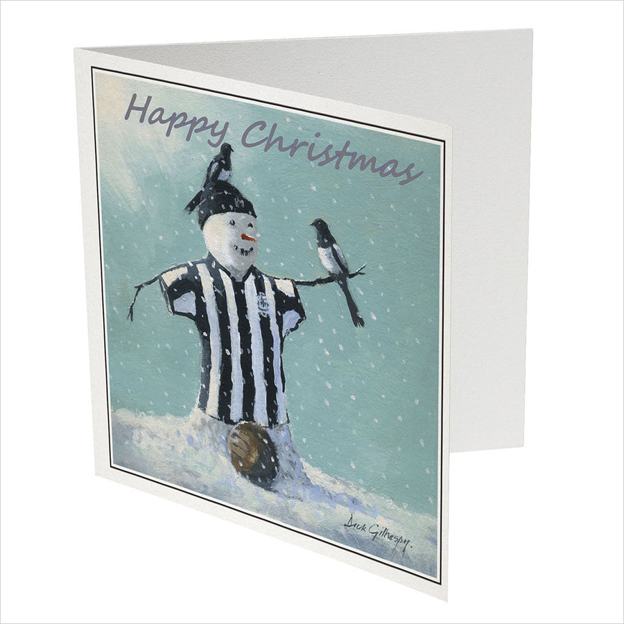 Snowman On The Ball - Newcastle United Christmas Card