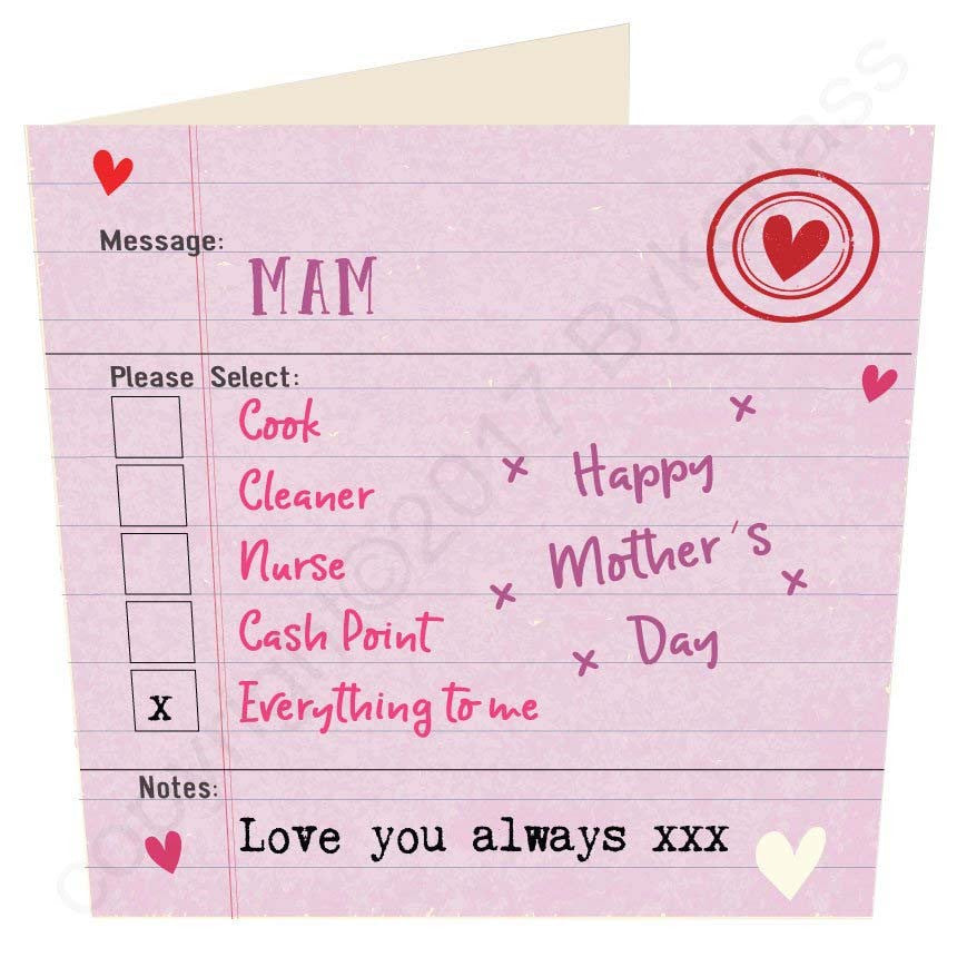Mam Everything To Me | Geordie Mother's Day Card