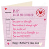 Mam I Love You Because | Geordie Mother's Day Card | Tyneside Prints