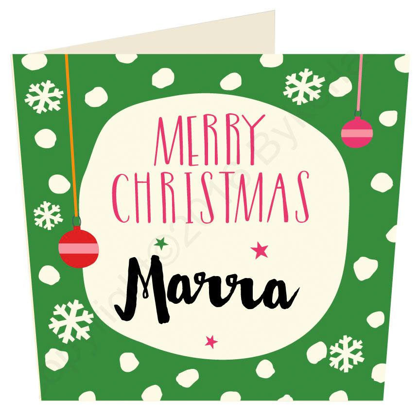 Merry Christmas Marra - Geordie Christmas Card