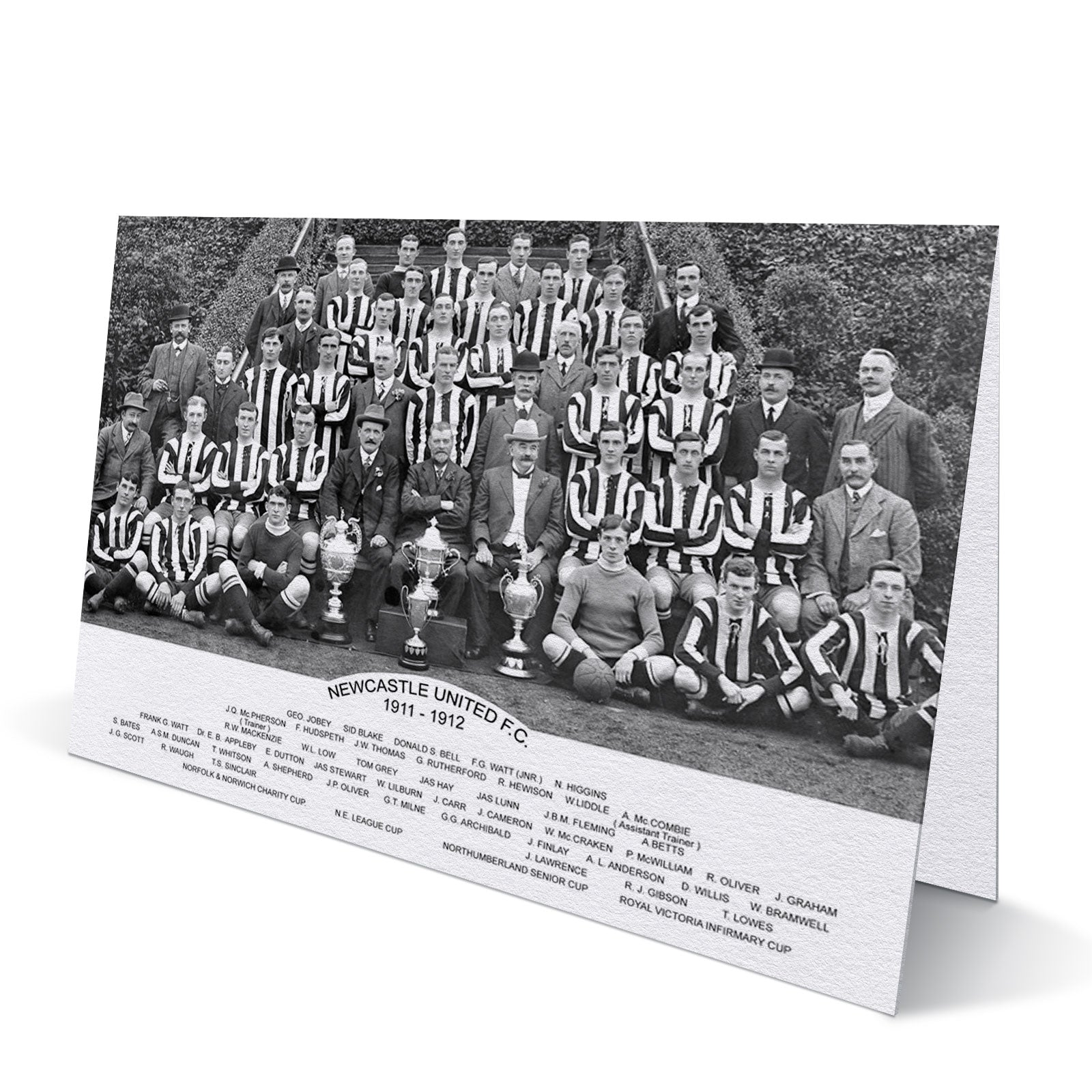 Newcastle United Trophy Winners 1911-12 - Greeting Card