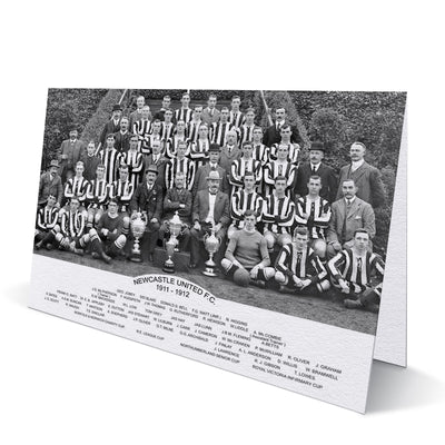 Newcastle United Trophy Winners 1911-12 Greeting Card