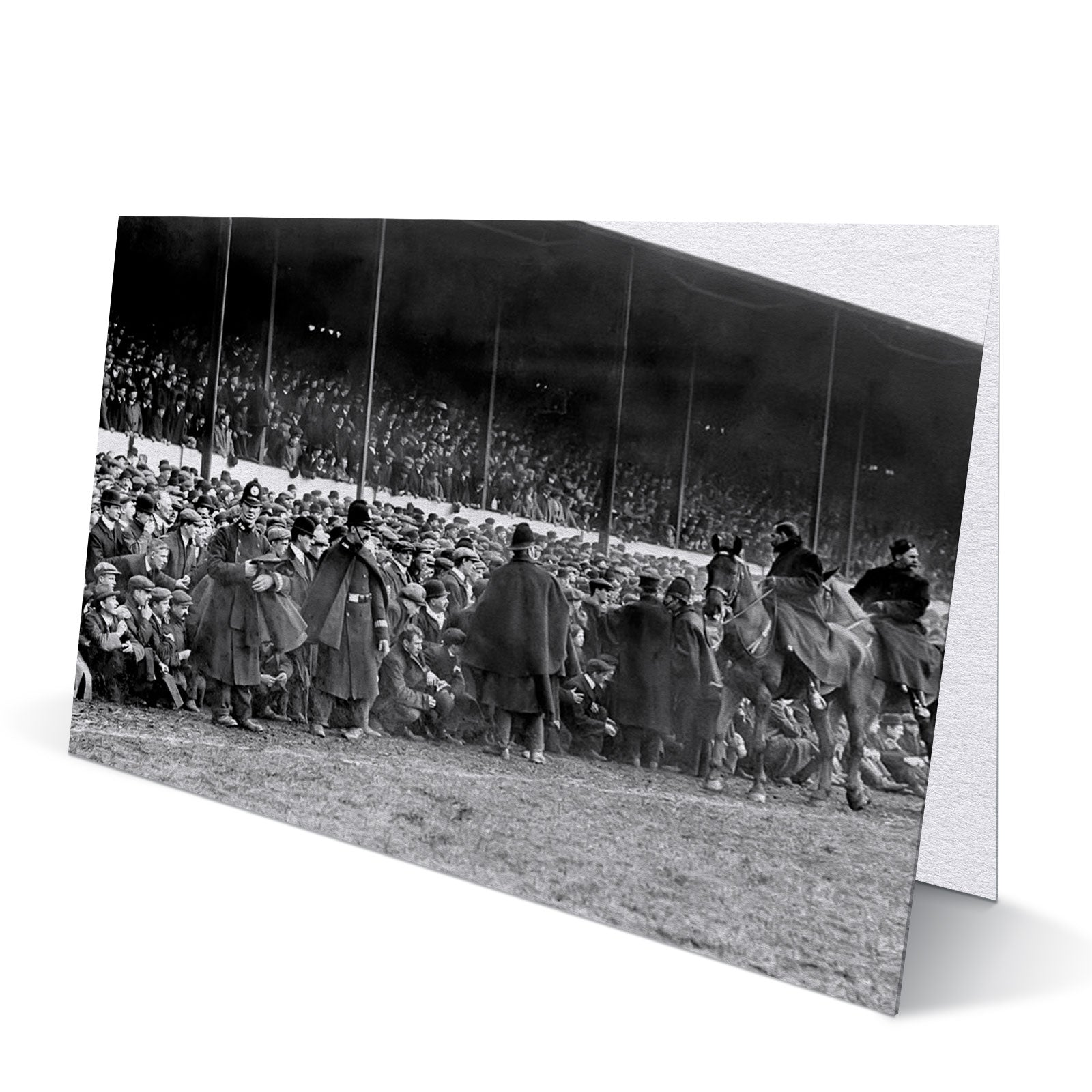 Spectators Watch Newcastle United Win Their 1st FA Cup 1910 - Greeting Card