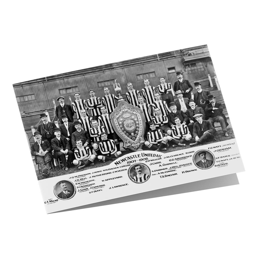 Newcastle United Team 1907-08 Greeting Card