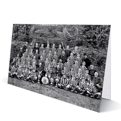 Newcastle United Team 1909-10 Greeting Card