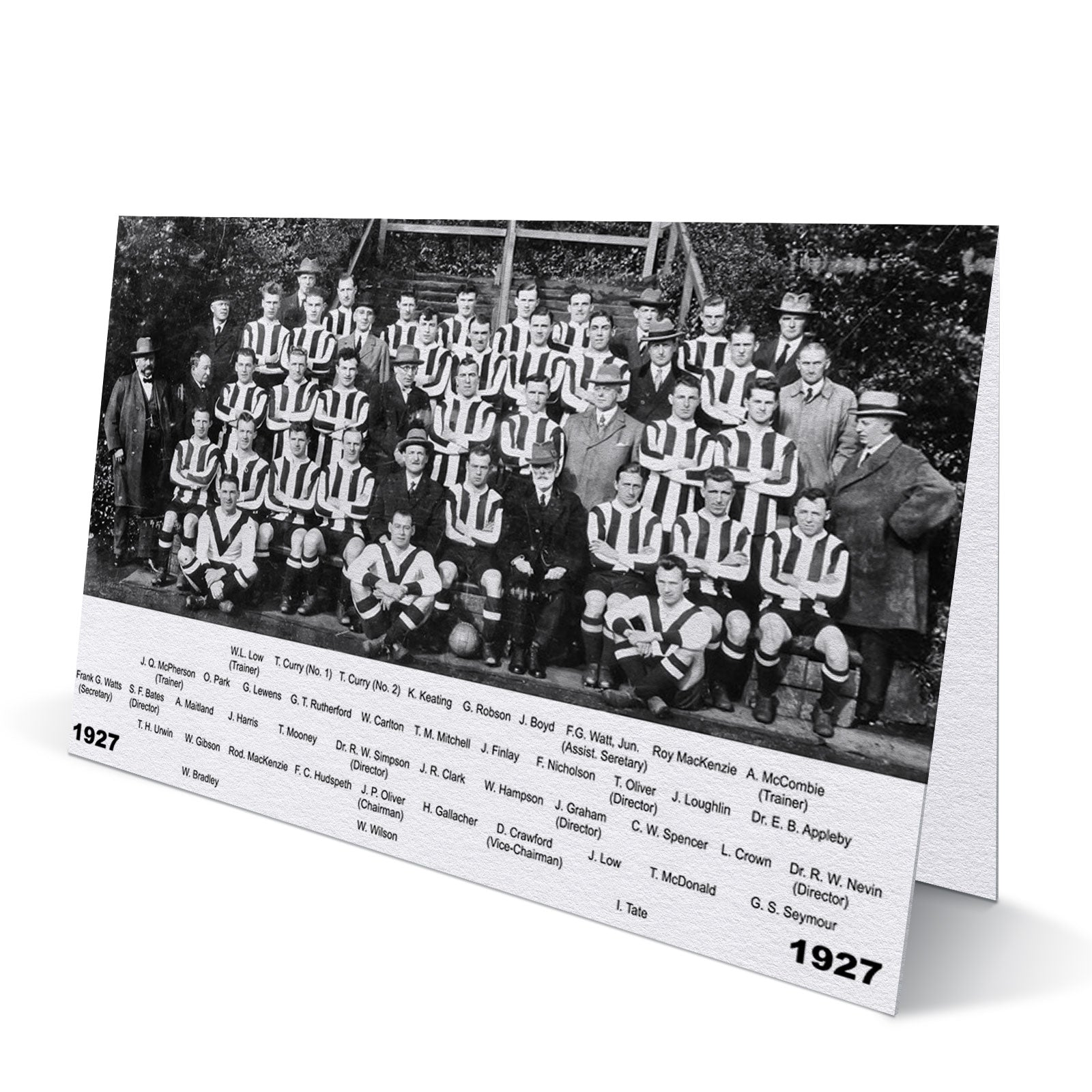 Newcastle United Team 1927 Greeting Card