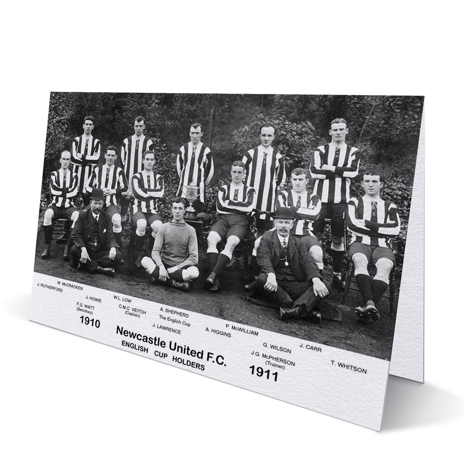 Newcastle United English Cup Holders Team 1910-11 - Greeting Card