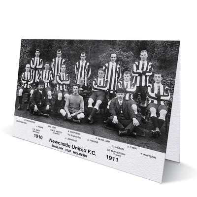 Newcastle United English Cup Holders Team 1910/11 Greeting Card
