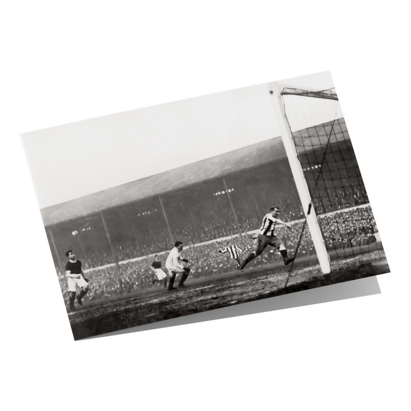 Newcastle's 1st FA Cup Winning Goal 1910 - Greeting Card