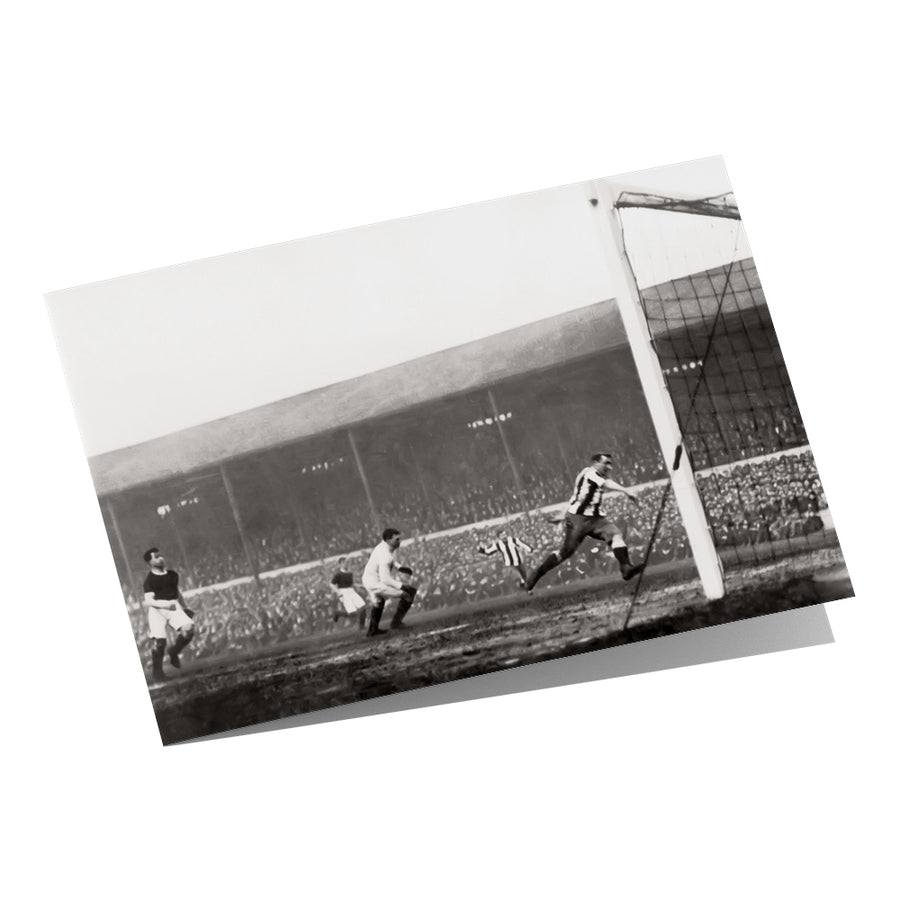 Newcastle's 1st FA Cup Winning Goal 1910 Greeting Card
