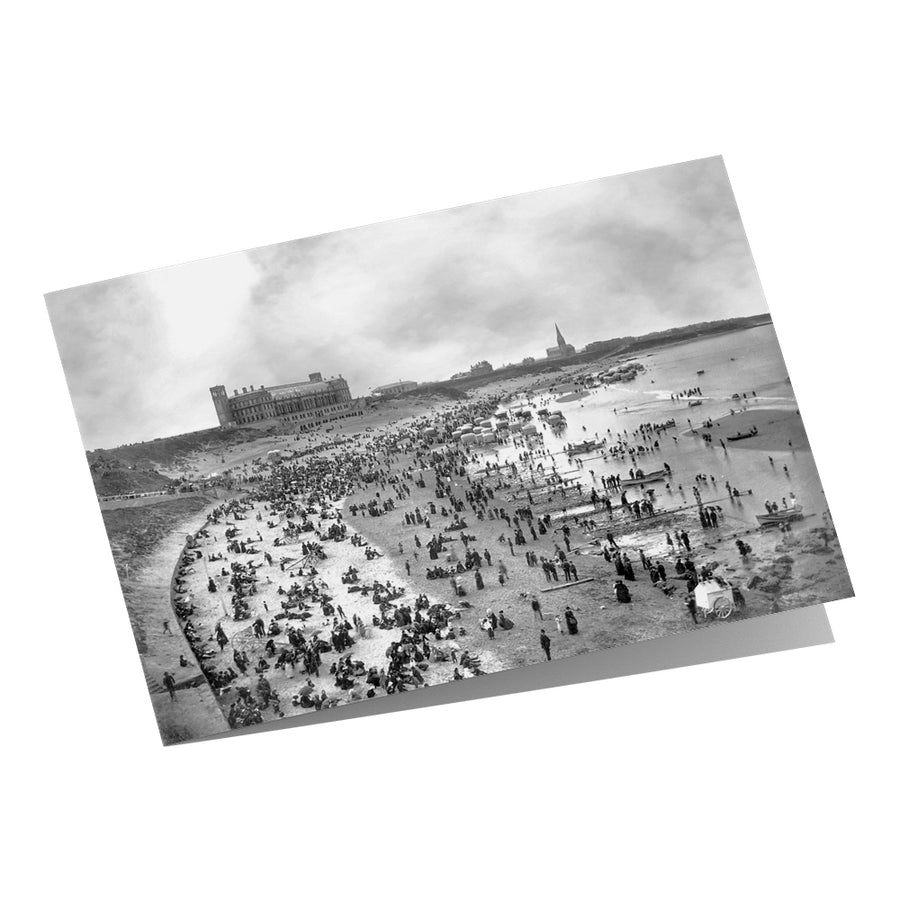 Long Sands Tynemouth 1880s - Greeting Card