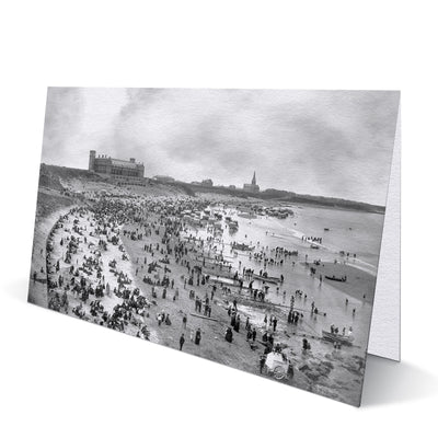 Long Sands Tynemouth 1880s Greeting Card