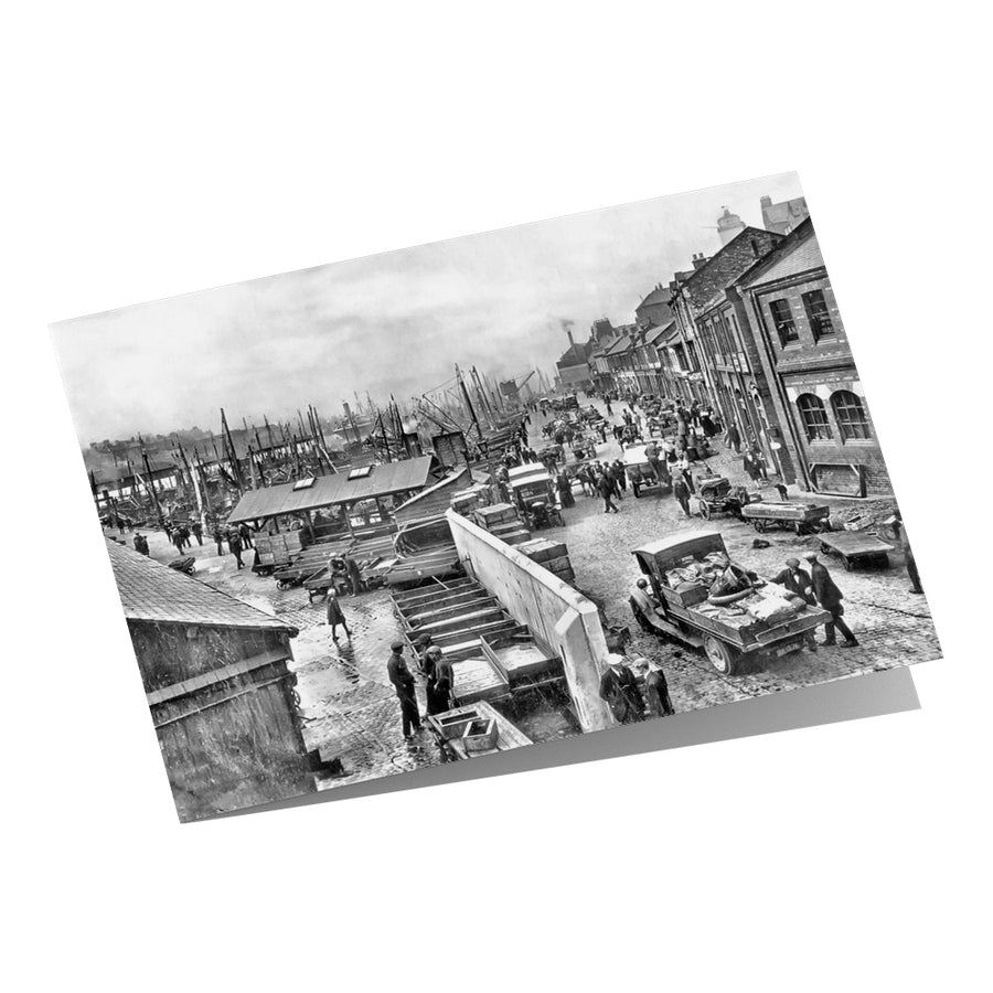 Fish Quay North Shields 1934 - Greeting Card