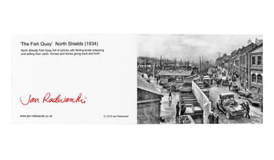 Fish Quay North Shields 1934 Greeting Card