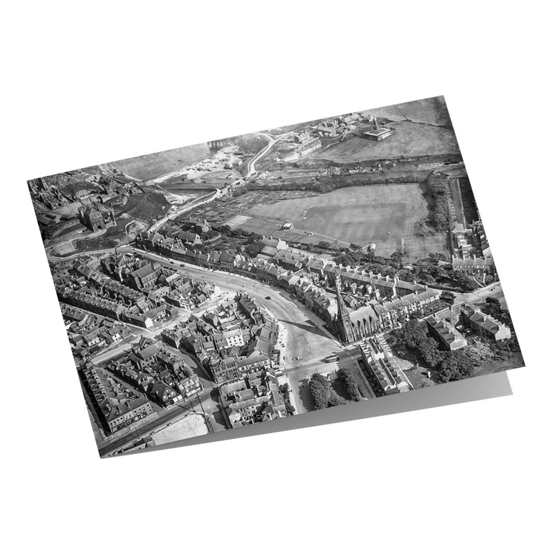 Tynemouth Bird's Eye View 1920 Greeting Card
