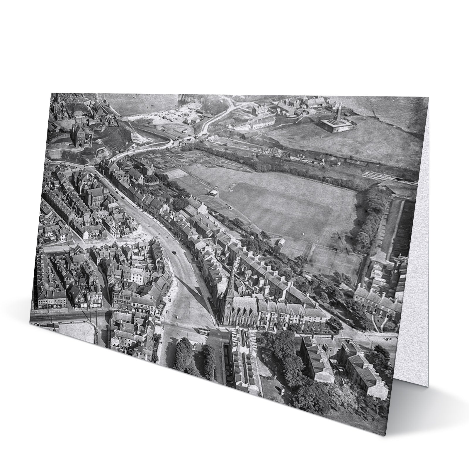 Tynemouth Bird's Eye View 1920 - Greeting Card