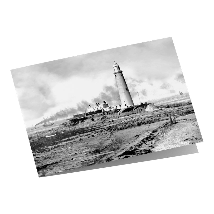 St Mary's Lighthouse Whitley Bay 1924 - Greeting Card