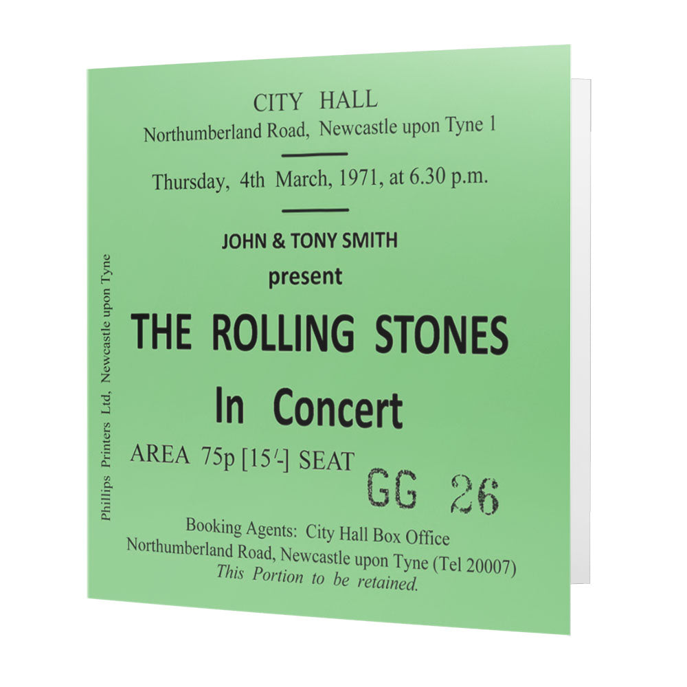 The Rolling Stones Newcastle City Hall Ticket - Card