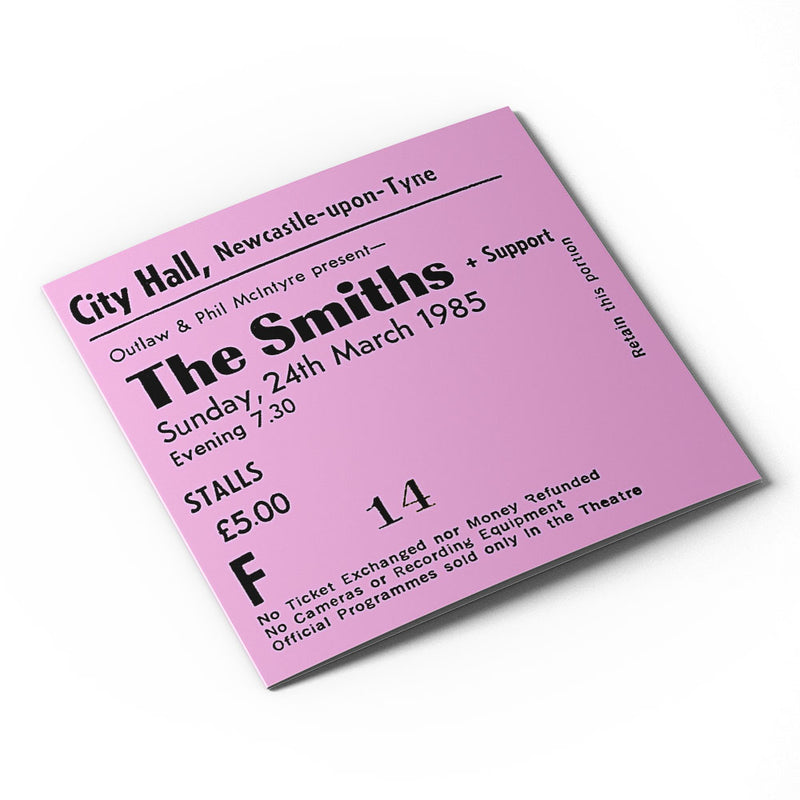 The Smiths Newcastle City Hall Ticket - Card