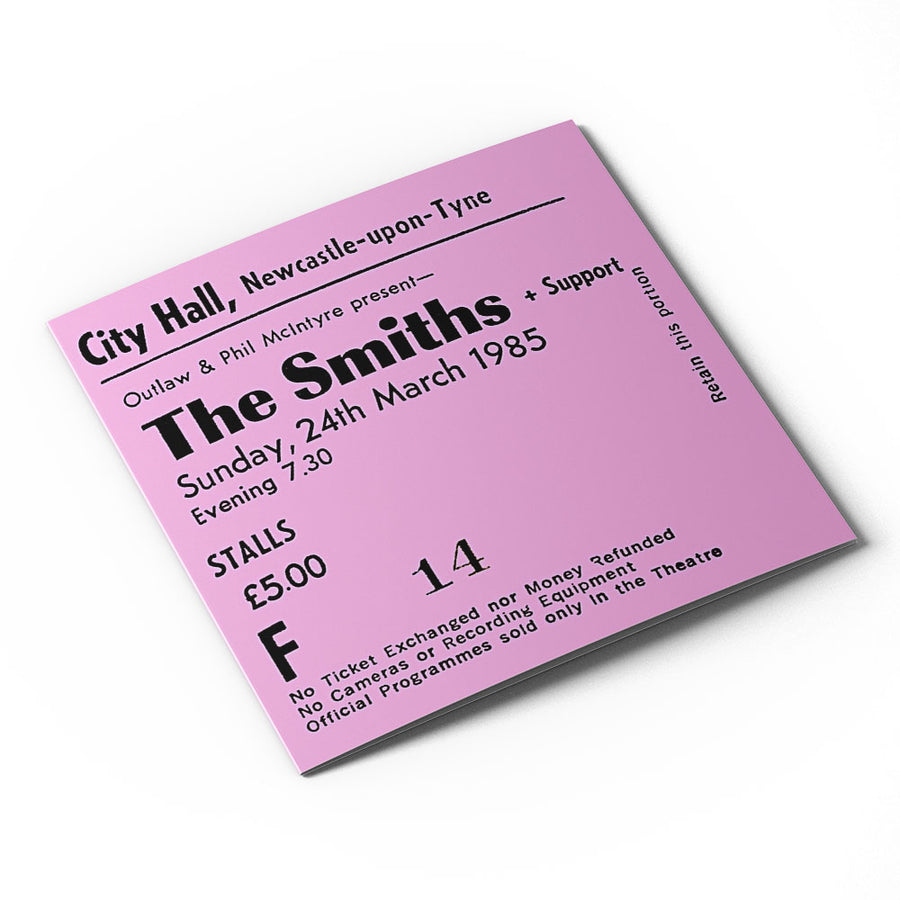 The Smiths Newcastle City Hall Ticket Card