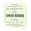 David Bowie Newcastle City Hall Ticket Card