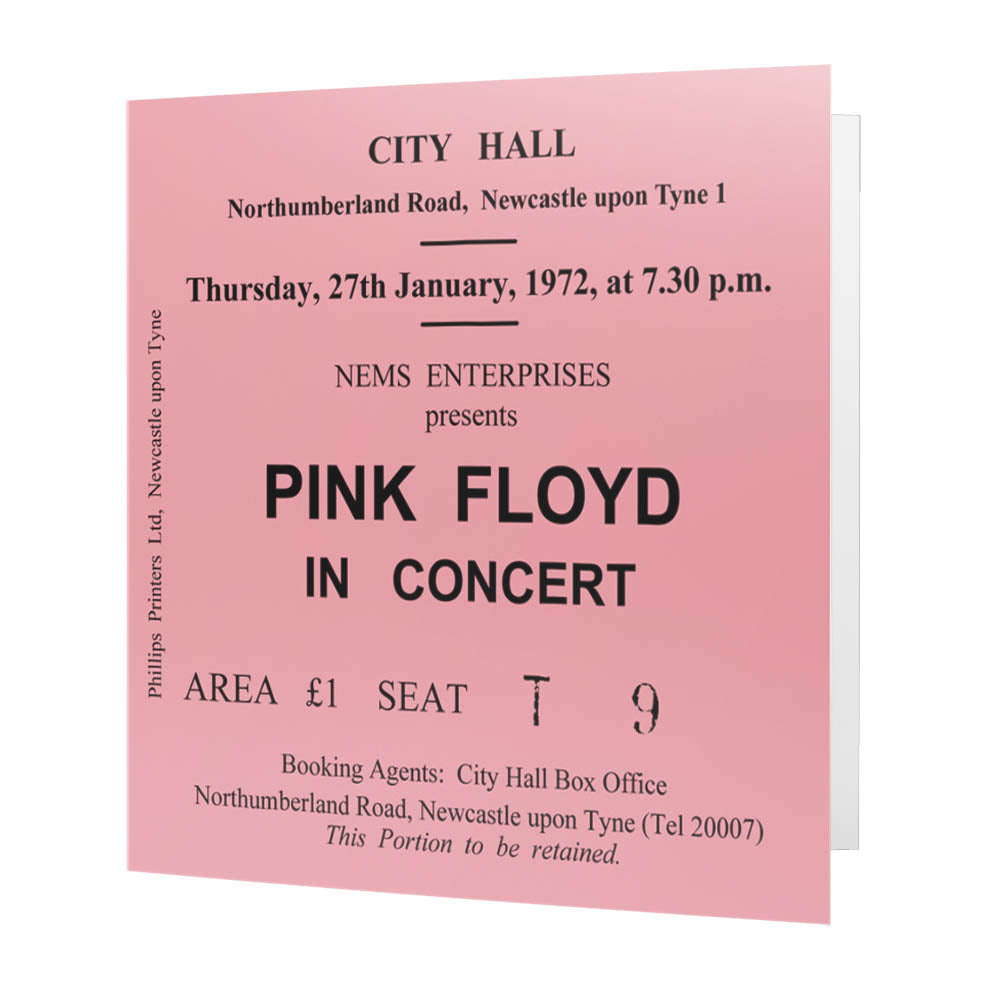 Pink Floyd Newcastle City Hall Ticket - Card