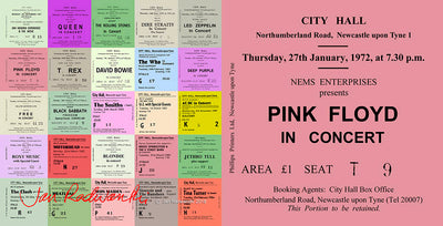 Pink Floyd Newcastle City Hall Ticket Card