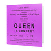 Queen Newcastle City Hall Ticket Card
