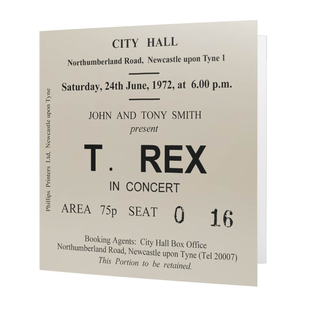 T. Rex Newcastle City Hall Ticket - Card