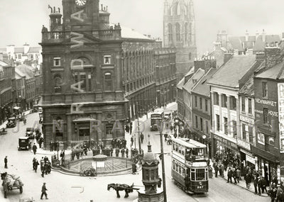Bigg Market Newcastle (1918) | Front View | Greeting Card