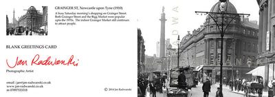 Grainger Street (1910) | Front & Back View | Greeting Card