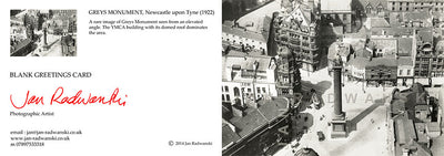 Greys Monument Newcastle (1922) | Front & Back View | Greeting Card