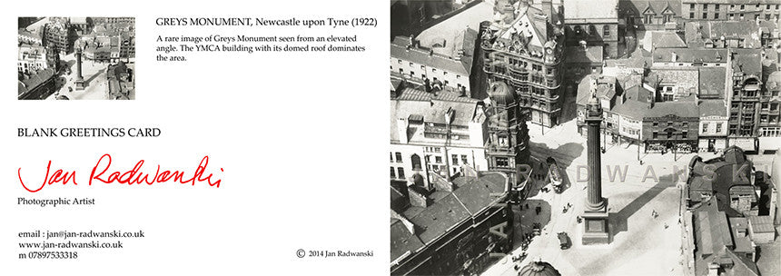 Grey's Monument Newcastle (1922) | Greeting Card
