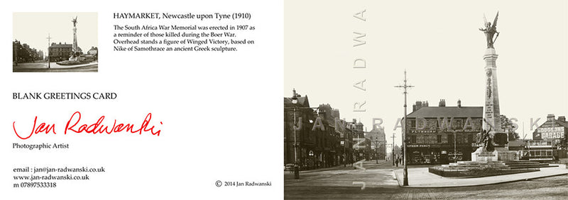 Haymarket Newcastle (1910) | Front View | Greeting Card