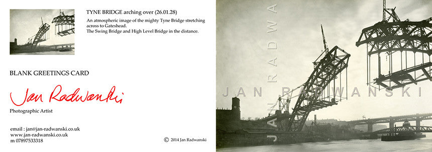 Tyne Bridge Arching Over (1928) | Front View | Greeting Card