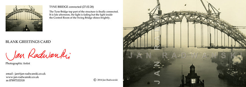 Tyne Bridge Connected (1928) | Front View | Greeting Card