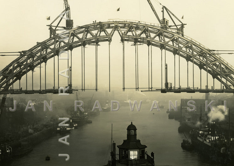 Tyne Bridge Connected (1928) | Greeting Card