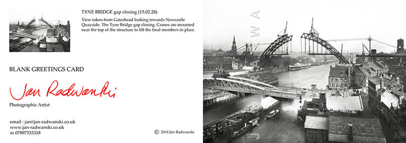 Tyne Bridge Gap Closing (1928) | Greeting Card