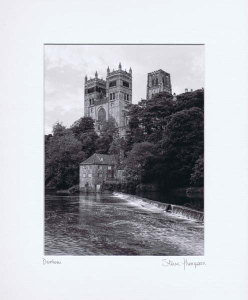 Durham Cathedral | Black & White Photographic Mounted Print | Tyneside Prints