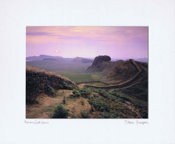 Hadrian's Wall | Northumberland | Colour Photographic Mounted Print | Tyneside Prints