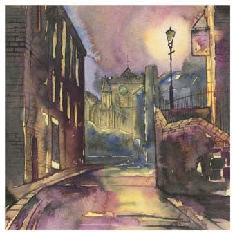 Hexham Abbey | Northumberland | Greeting Card | Tyneside Prints