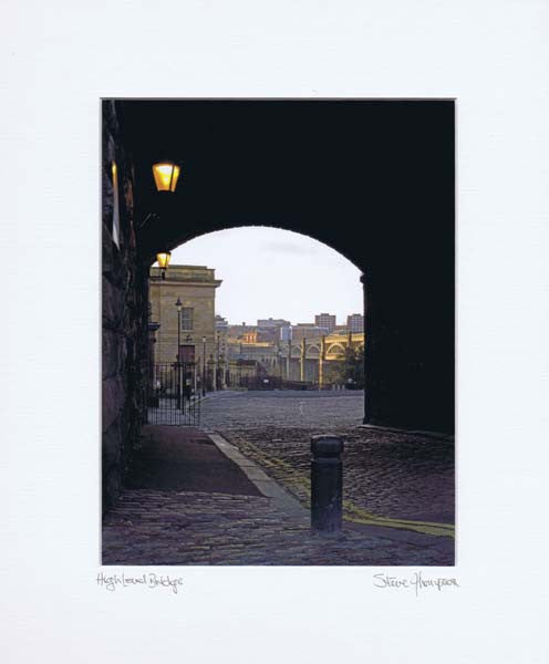 High Level Bridge Through The Arch | Colour Photographic Mounted Print
