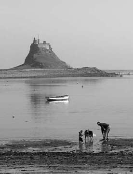 Holy Island | Northumberland | Black & White Photographic Print