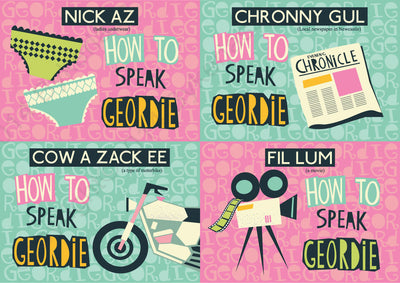 How To Speak Geordie Postcards (Pack of 4) | Geordie Greeting Cards | Tyneside Prints
