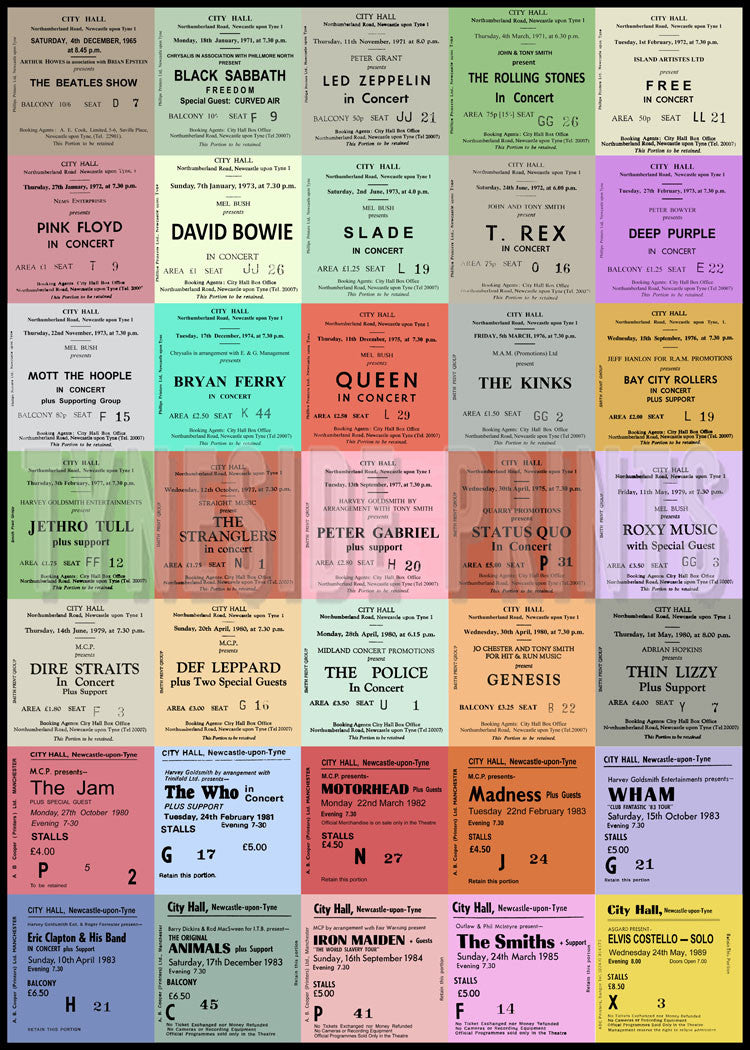 Best Of British - Newcastle City Hall Tickets - Lithographic Poster