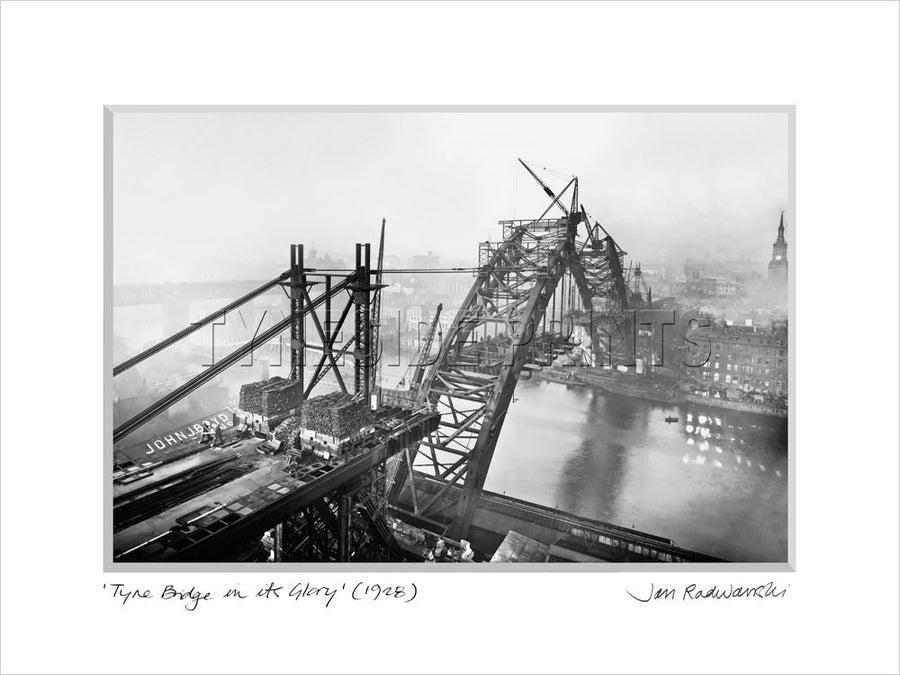 Tyne Bridge In Its Glory 1928 Mounted Fine Art Print