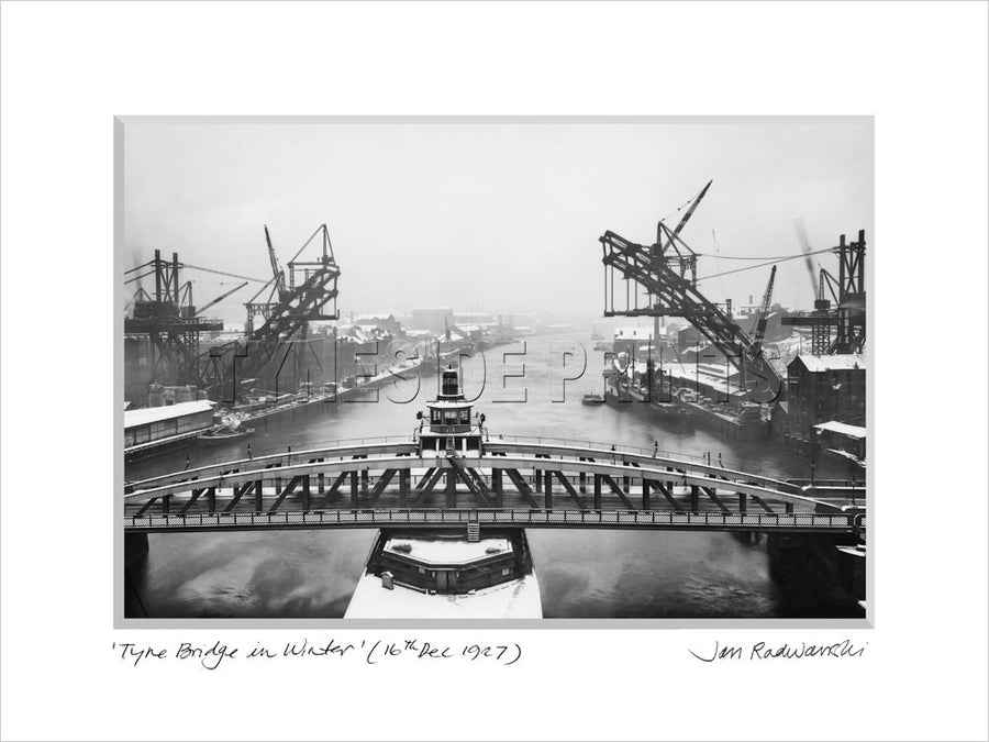 Tyne Bridge In Winter 1927 Mounted Fine Art Print